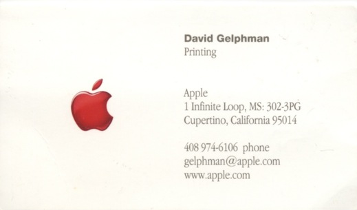 Apple Printing Card
