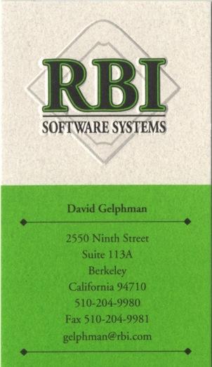 RBI Card