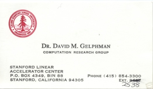 SLAC Computation Research Group Card