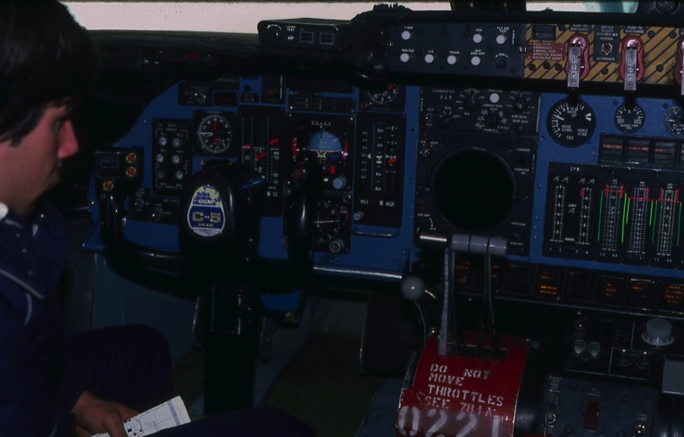 Cockpit before flying