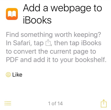 Save PDF to iBooks Tip